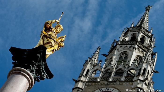 Колонна Девы Марии и Новая ратуша