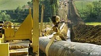 Verlegung der Pipelines, OMV