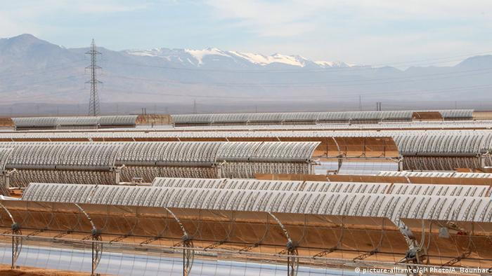 مشروع انتاج الطاقة الكهربائية من الطاقة الشمسية في المغرب