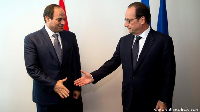 Ägypten Frankreich Präsident Abdel Fattah und Francois Hollande