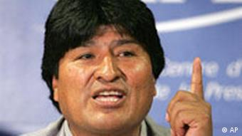 Evo Morales in Paris