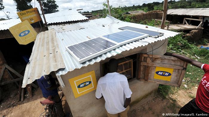 Solar panels in Africa