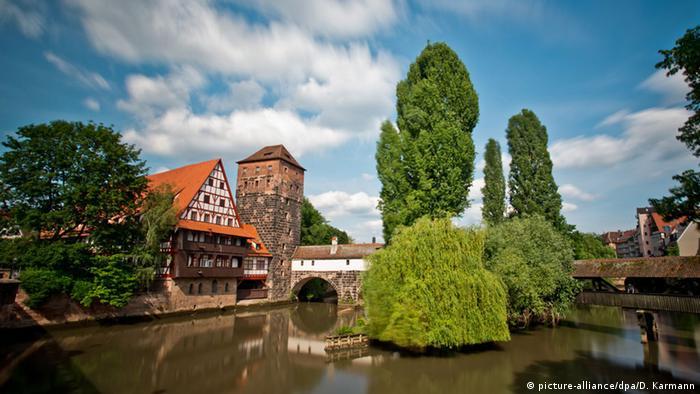 Комплекс исторических зданий Weinstadel в Нюрнберге