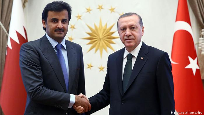 Türkei Katars Emir Scheich Tamim und Erdogan