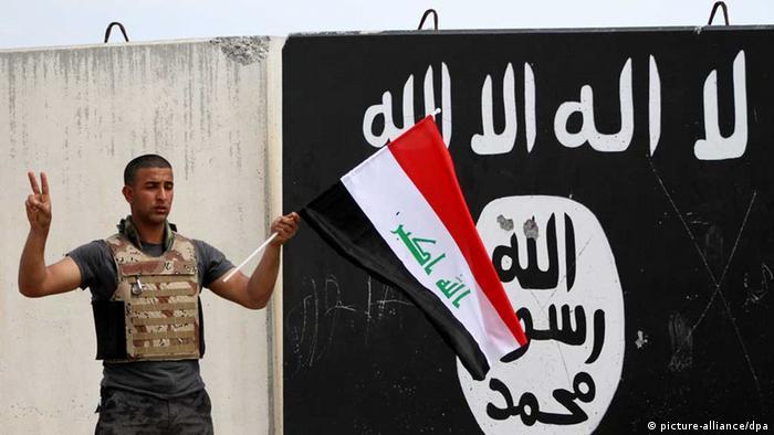 Irak / IS / Islamischer Staat / Irakischer Soldat (picture-alliance/dpa)