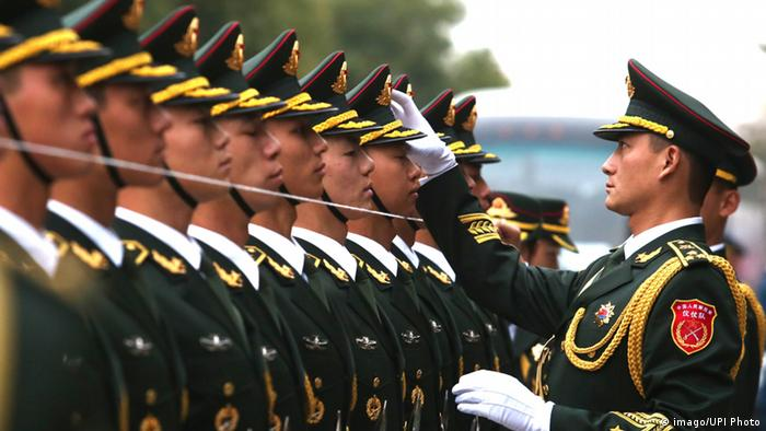 China Soldaten der Ehrengarde in Peking