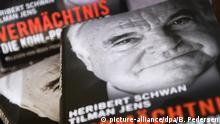 Deutschland Helmut Kohl Buch Vermächtnis. Die Kohl-Protokolle