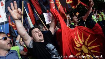Mazedonien Pro-Regierungs-Kundgebung in Skopje