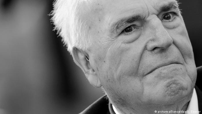 Deutschland Helmut Kohl Ex-Bundeskanzler schwarz/weiß