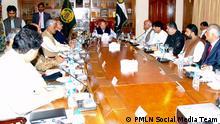 Bild: PML(N) Pakistans Premierminister Nawaz Sharif bei einem Meeting in der Provinz Belutschistan