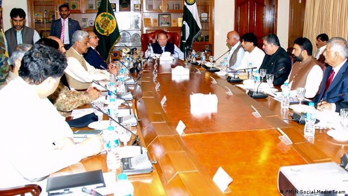 Pakistans Premierminister Nawaz Sharif in Belutschistan