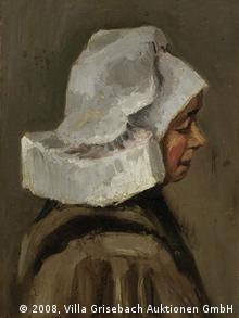 Vincent van Gogh's Head of a Peasant Woman (1884/1885), Copyright: 2008, Villa Grisebach Auktionen GmbH