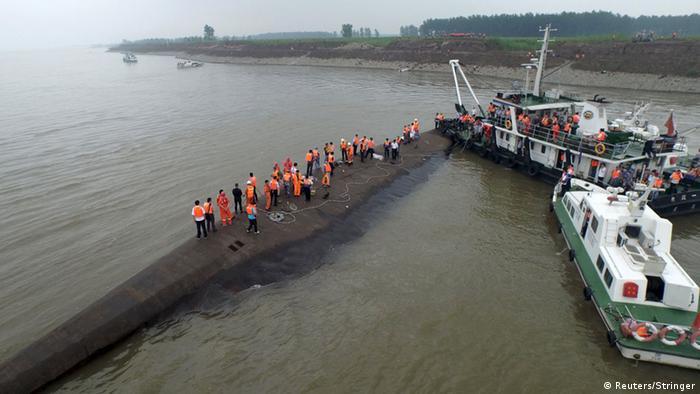 Schiffsunglück in China auf dem Jangtse