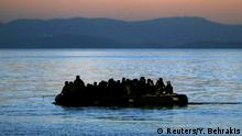 26.05.2015+++ A dinghy overcrowded with Afghan and other immigrants is towed by a Greek coast guard patrol boat into the port on the Greek island of Kos following a rescue operation in a part of the Aegean Sea between Turkey and Greece, early May 26,2015. Hundreds of mainly Syrian and Afghan immigrants on Tuesday landed on the Greek island of Kos in the south-eastern Aegean Sea. REUTERS/Yannis Behrakis