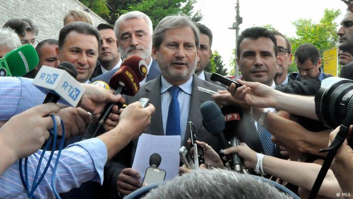 Johannes Hahn in Skopje