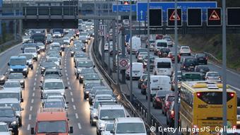 Пробка на берлинской автостраде