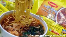I ate some Maggi: The product name has become a common name for instant noodles in general. This is called 'genericide'.