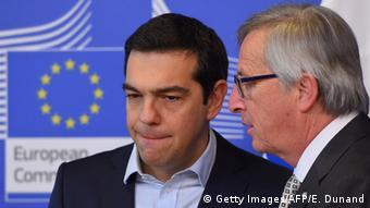 Греческий премьер Алексис Ципрас и глава Еврокомиссии Жан-Клод Юнкер