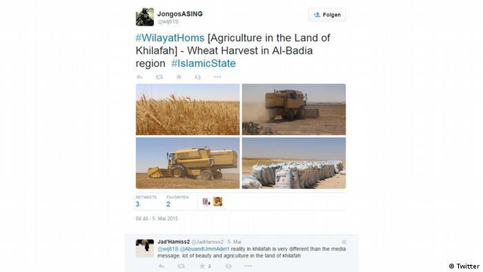 Nur für Life Links - Screenshot Tweet Islamic State Landwirtschaft