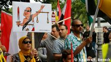 Berlin Besuch al-Sisi Demonstration Regimegegner