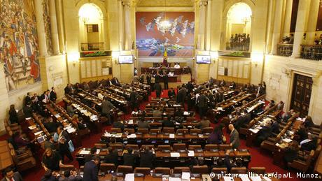 Kolumbien Parlament Kongress Repräsentantenhaus in Bogota