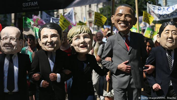 Протесты антиглобалистов в Мюнхене