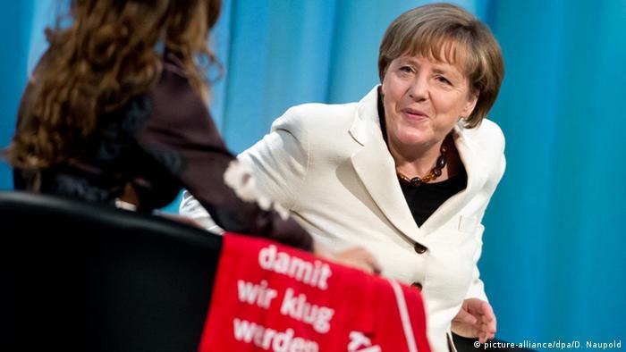 Deutschland Evangelischer Kirchentag 2015 in Stuttgart Angela Merkel
