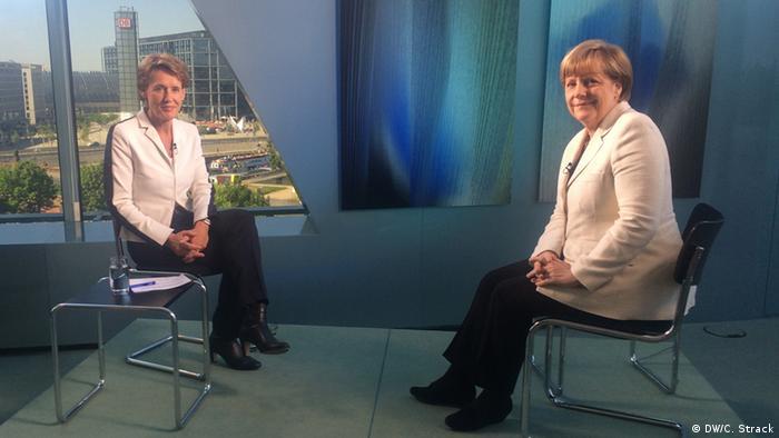 Анґела Меркель під час інтерв'ю DW