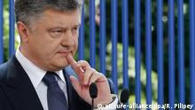 Poroschenko PK unter freiem Himel