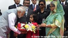 Bangladesch Ankunft Narendra Modi Premierminister Indien