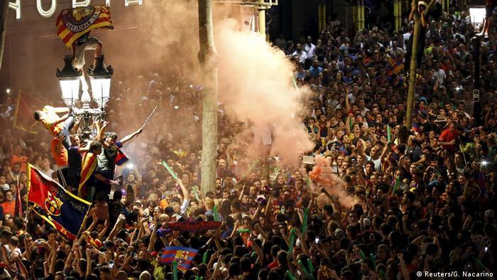 Barcelona Fans Feier Jubel Champions League Finale (Reuters/G. Nacarino)