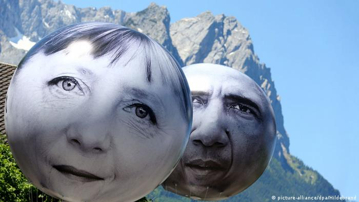 Garmisch-Partenkirchen G7 Gipfel Elmau Demonstration Merkel Obama