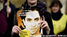 Raif Badawi Amnesty International Demo (Getty Images/AFP/T. Schwarz)