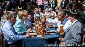 G7: Merkel, Obama in Krün