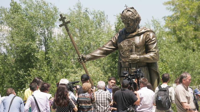 Bulgarien Sofia Enthüllung Denkmal von König Samuil (BGNES)