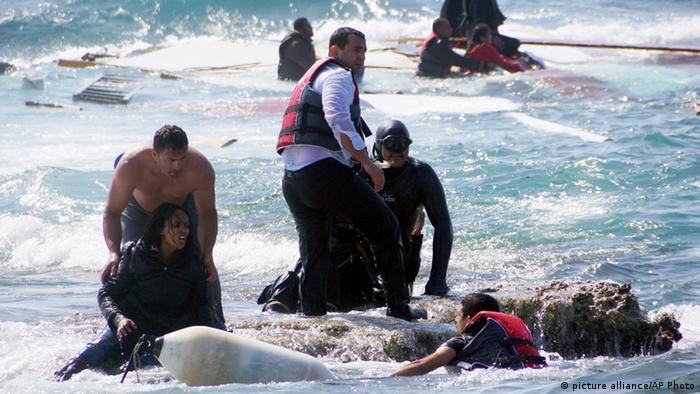 Griechenland Flüchtlinge aus Eritrea vor Rhodos