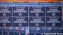 Argentinien Generalstreik Plakate
