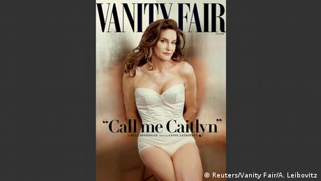 Caitlyn Jenner on the cover of Vanity Fair with the caption 'Call me Caitlyn'