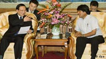 Evo Morales in China