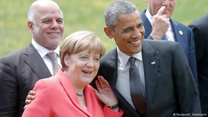 G7 Gipfel Schloss Elmau Merkel mit Obama