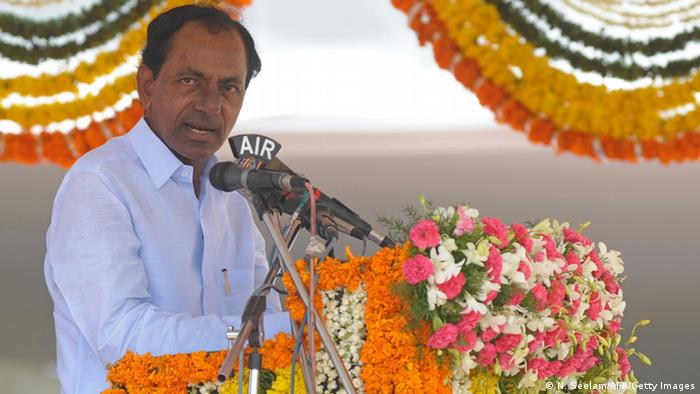 Indien Ministerpräsident Chandrasekhar Rao in Hyderabad (N. Seelam/AFP/Getty Images)