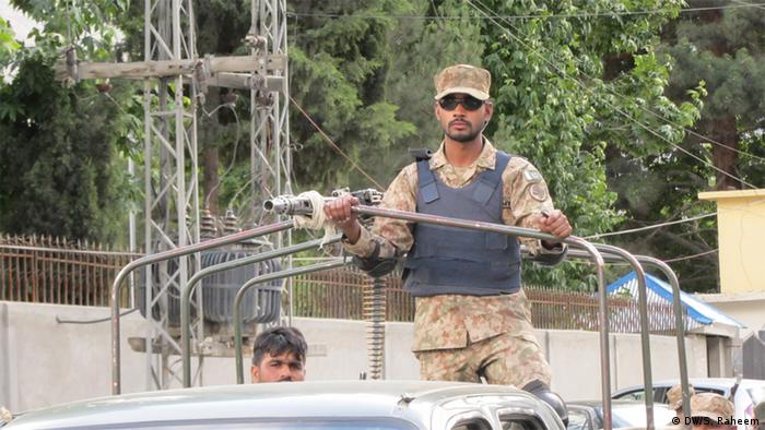 A Pakistani soldier in Gilgit-Baltistan