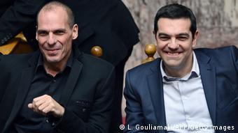 Aλέξης Τσίπρας και Γιάνης Βαρουφάκης, 18.02.2015