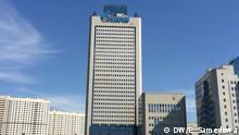 Thema Gasprom-Versprechen für Europa Auf den Bildern ist ein Gazprom-Haus in Moskau. Schlüsselworter: Russland, Moskau, Gazprom, Europa, Ewlaliya Samedowa Foto: Korrespondentin in Moskau Ewlaliya Samedowa