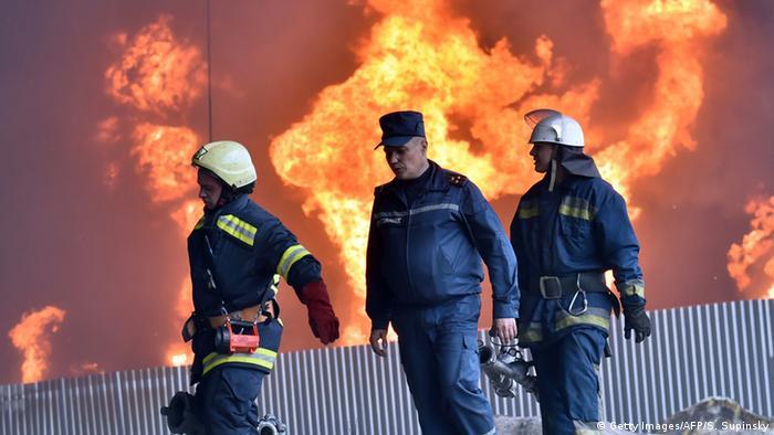 Пожежа на нафтосховищі у Київській області