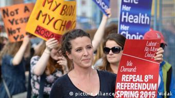 Protest pro Abtreibung in Dublin