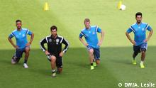 The Germany soccers quad take part in training at Cologne's RheinEnergie Stadion ahead of the friendly match against the United States of America. Date: 9/06/2015. Author: Andre Leslie