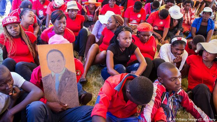 Wahlkampfveranstalatung der MDC in Simbabwe