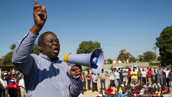 MDC-Führer Morgan Tsvangirai Foto: Zinyange Auntony/AFP/Getty Images