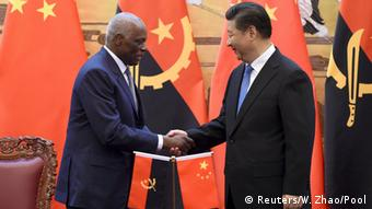 Angolas Präsident Jose Eduardo dos Santos in China (Reuters/W. Zhao/Pool)